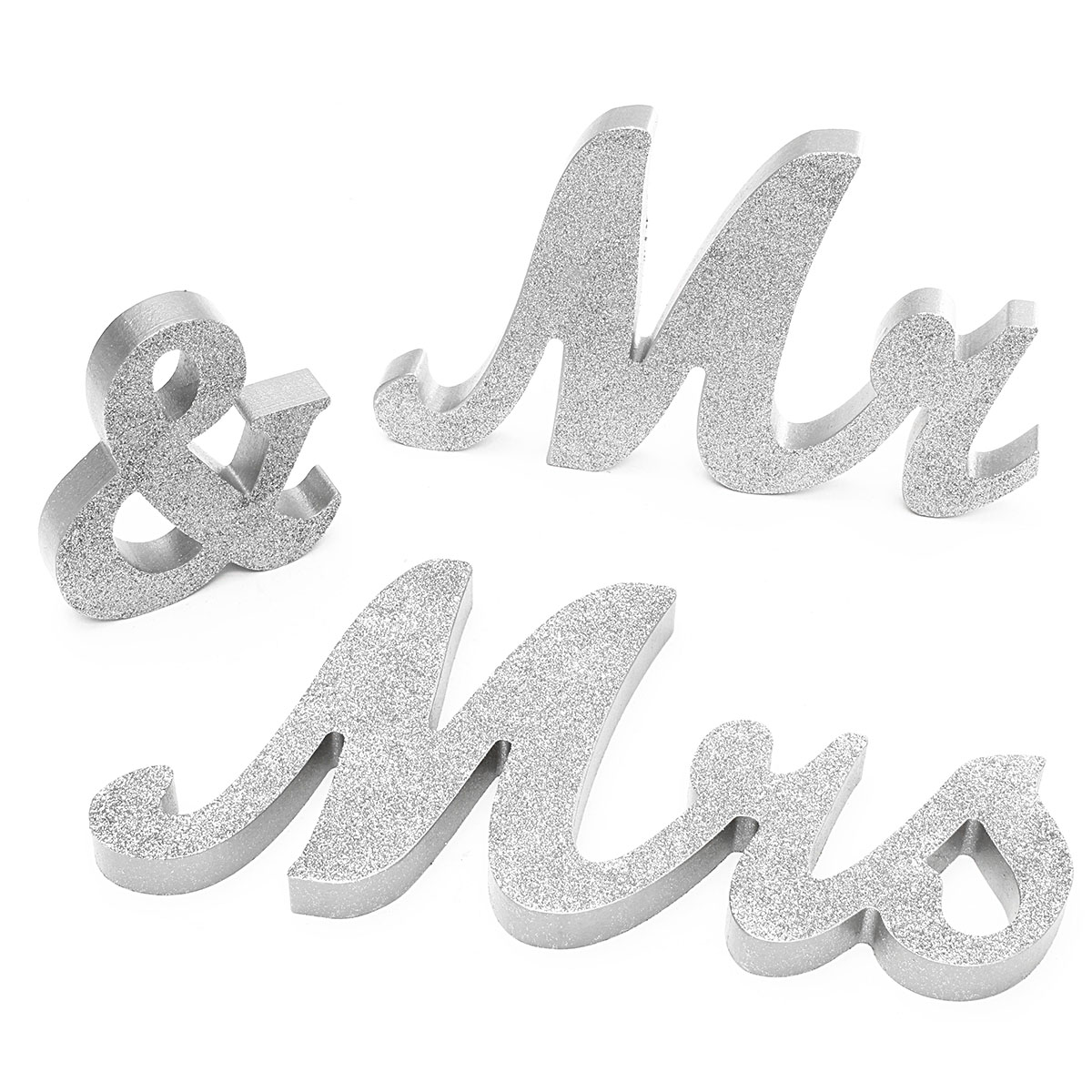 Mr & Mrs Wooden Letters Sign Reception Table Standing Wedding Decoration Gift ,Black Friday Big Sale!