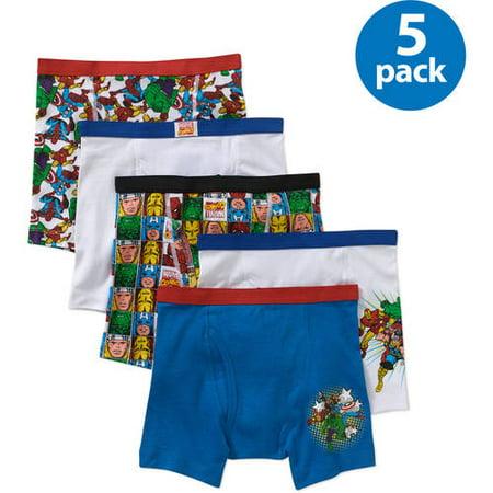 Marvel Superheroes Boys' Underwear, 5 Pack, Size 8