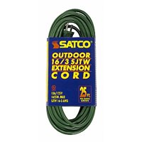Satco 25 FT Green Outdoor Light Duty Extension Cord
