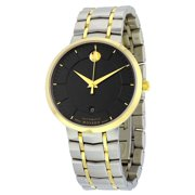 Movado 1881 Black Dial Two-tone Stainless Steel Mens Watch 0606916