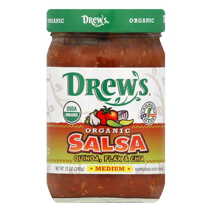 Drews Medium Quinoa Organic Salsa, 12 Oz (Pack of 6)