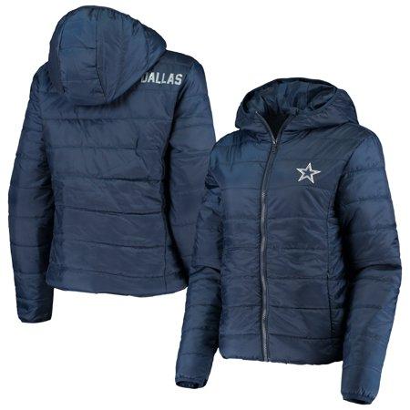 Dallas Cowboys WEAR by Erin Andrews Women's Packable Full-Zip Hoodie Jacket - Navy