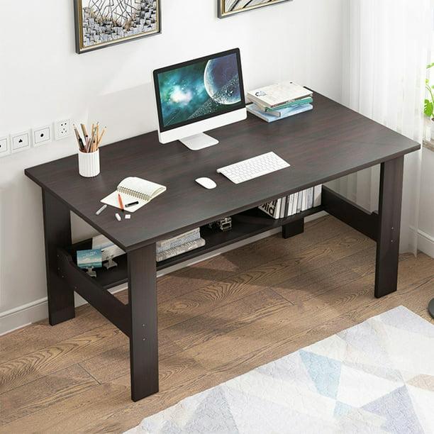 Befoka Shipment From Usa Desktop Computer Desk Modern Home Office Desk Gaming Pc Laptop Desk Work Table Home Bedroom Furniture Workstation Students Study Writing Desk Wood Table Black Walmart Com Walmart Com