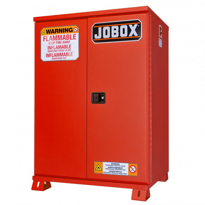 JOBOX 1-850610 12 Gallon Heavy-Duty Safety Cabinet (Red)