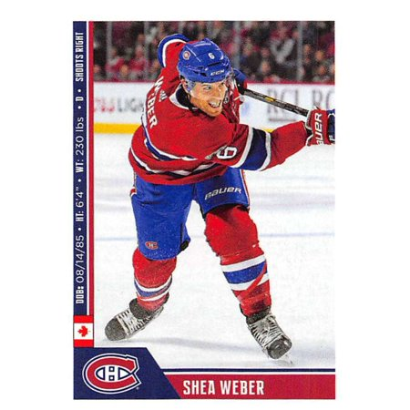 2018-19 Panini NHL Stickers #115 Shea Weber Montreal Canadiens Hockey -