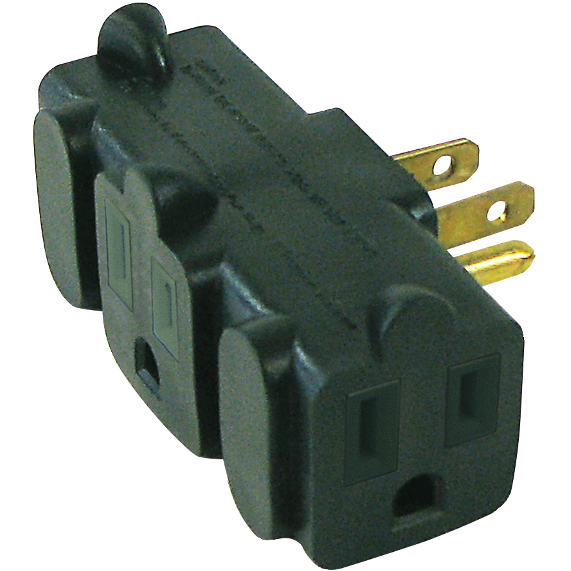 Axis 45092 3-Outlet Heavy-Duty Grounding Adapter, Green