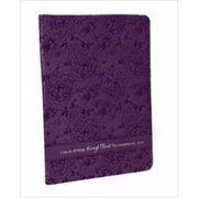 Christian Art Gifts 361097 Folder All Things Luxleather With Pen & Pad Purple