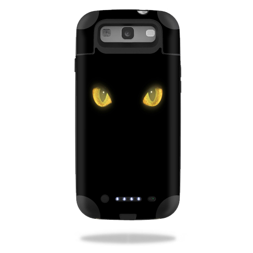 Mightyskins Protective Vinyl Skin Decal Cover for Mophie Juice Pack Samsung Galaxy S III S3 External Battery Case wrap sticker skins Cat Eyes