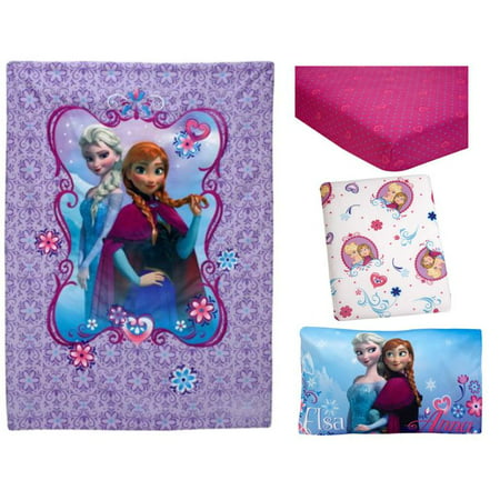 Disney Frozen Elsa Amp Anna 4 Piece Toddler Bedding Set