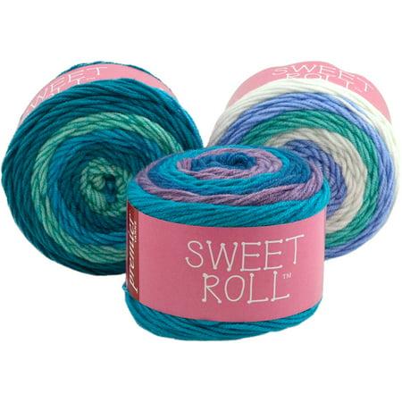 Premier Yarns Sweet Roll Yarn-Blueberry - Swirl Cotton Yarn