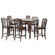 Onoway Dining Set Counter Height-Finish:Mahogany,Quantity:7 Piece