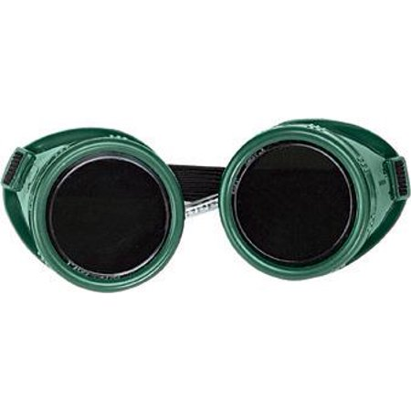 Radnor 64005080 Welding Goggles With Green Hard Plastic Frame And Shade 5 Green 50mm Round Lens (1/EA)