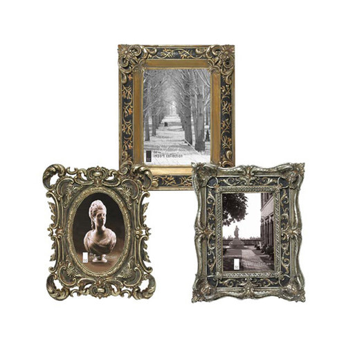 Selectives 3 Piece Resin Made Georgette Picture Frame Set