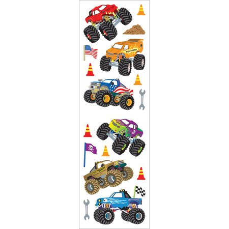 Mrs. Grossman's Stickers-Monster Trucks - Monster Truck Stickers