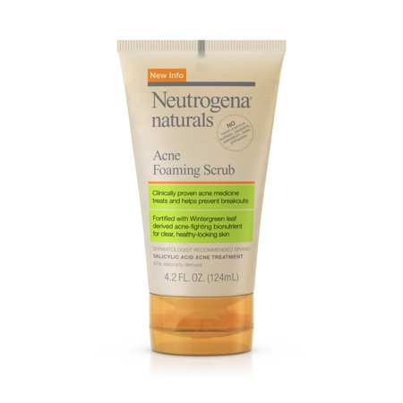 Neutrogena Naturals Acne Foaming Wintergreen Facial Scrub, 4.2 fl. oz
