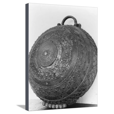 Bronze bowl cast by the 'lost wax' method, Igbo Ukwu, Nigeria, 9th century Stretched Canvas Print Wall Art By Werner (Lost Wax)