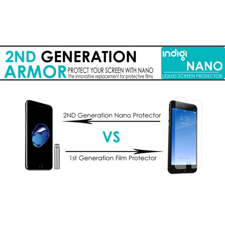 Indigi® Ultra-Thin Liquid Screen Protector with Nano Titanium Technology for all Glass Displays [Easy Install + Scratch Proof + Invisible] - image 4 de 5