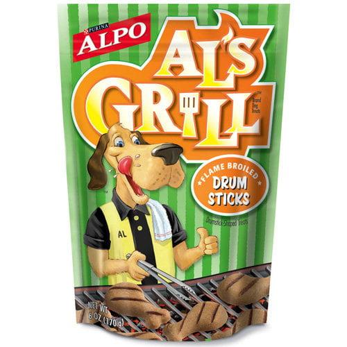 Al's Grill: Flame Broiled Drumsticks Dog Treats, 6 Oz