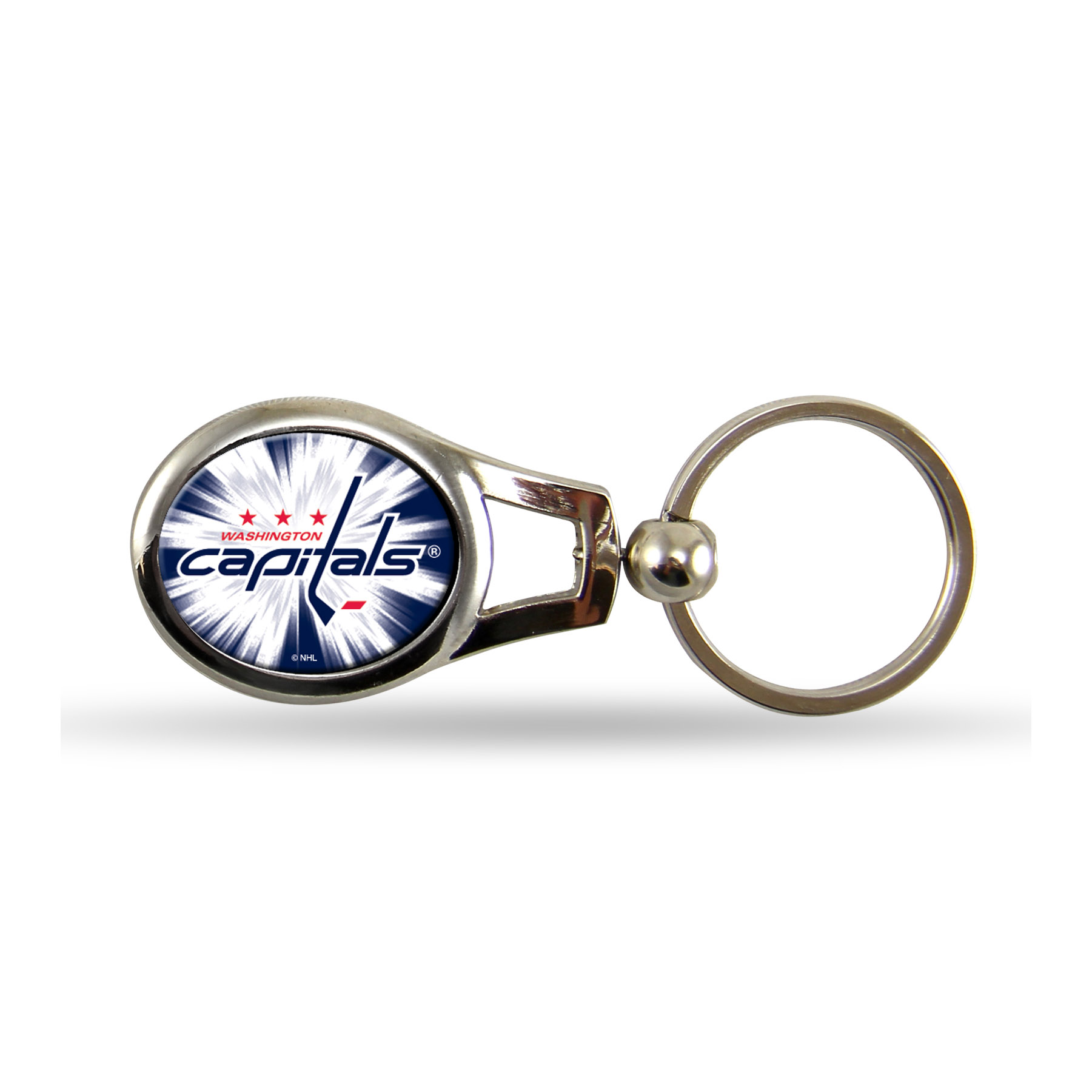 Washington Capitals Official NHL 2 inch  Oval Key Chain Keychain by Rico