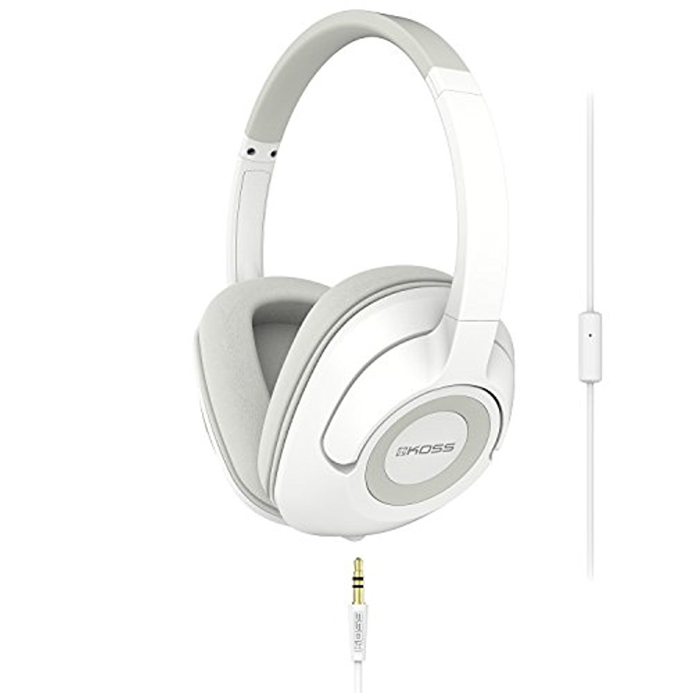 Koss UR42iW Over-Ear Headphones, detachable cord , in-line microphone &remote by Koss