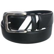 Beverly Hills Polo Club Men's Two Stripe Nappa PU Belt, Brand NEW -
