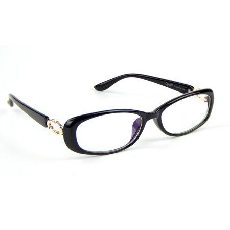 Cyxus Blue Light Blocking Computer Glasses Elliptical Frame Anti Eye Strain UV Gaming (The Look Eyewear Reading Glasses)