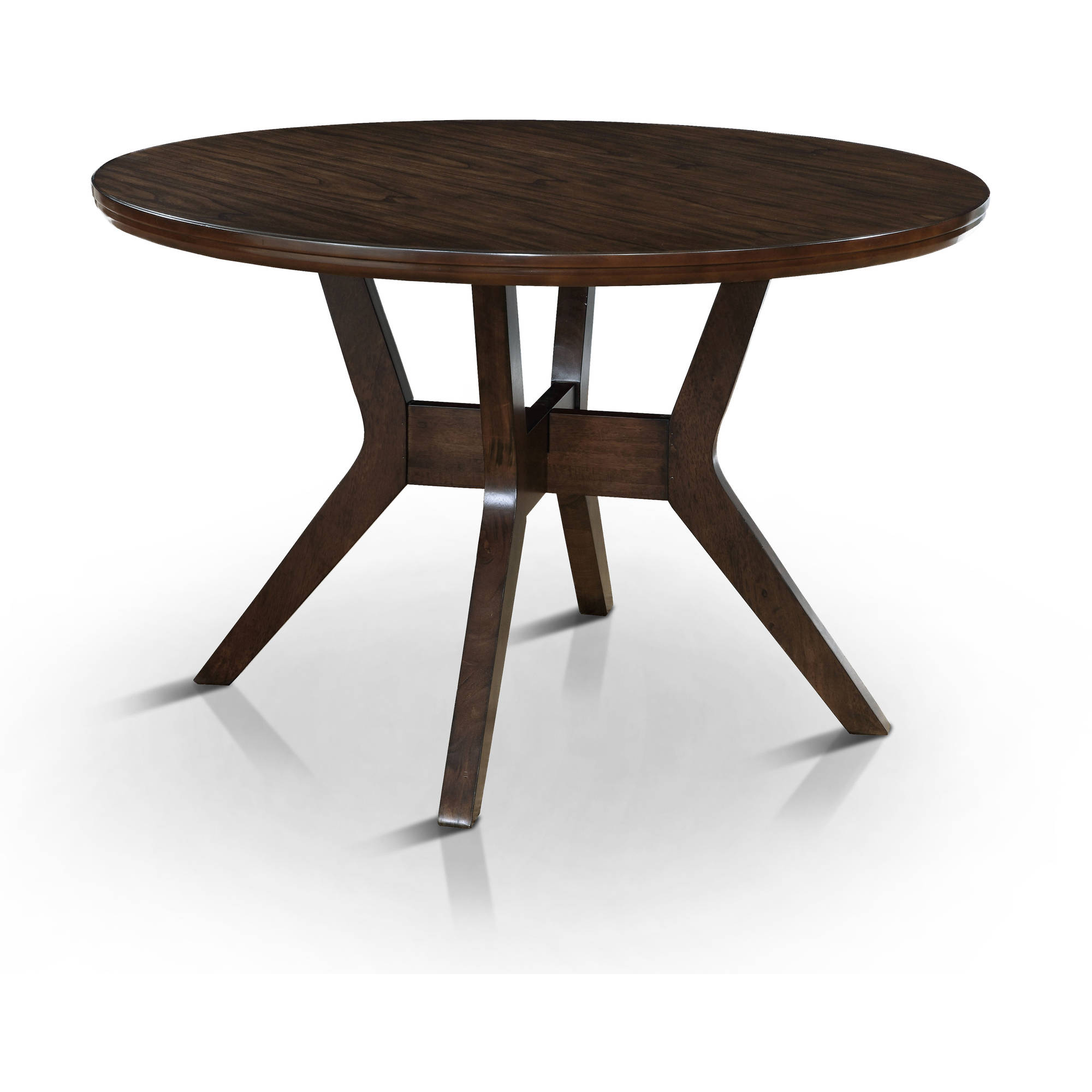 Furniture of America Lailina Mid-Century Round Dining Table, Gray by Furniture of America
