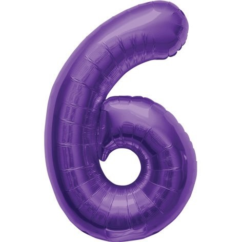 "northstar balloons 34"" number 6 purple"