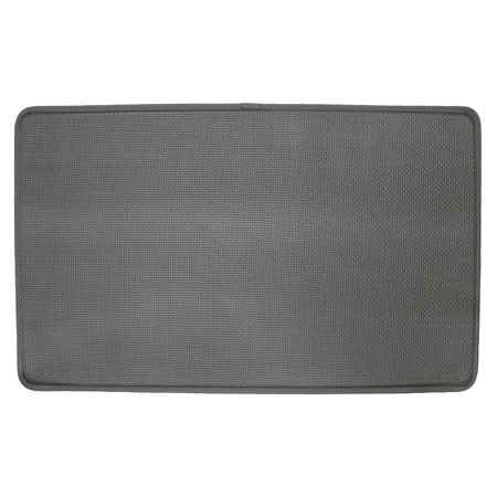Cushion Comfort Kitchen Mat, Basketweave Grey