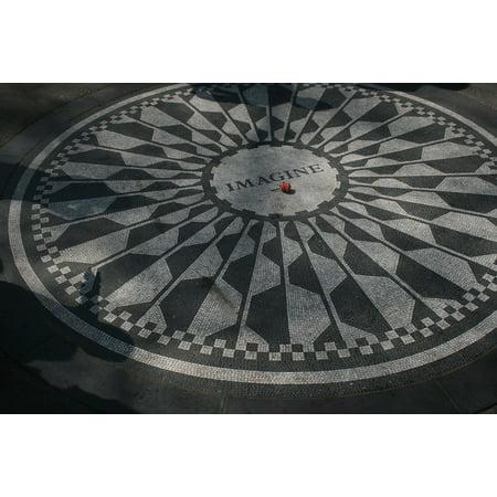 Framed Art for Your Wall Strawberry Fields Imagine Tribute John Lennon 10x13 (John Lennon Spectacle Frames)