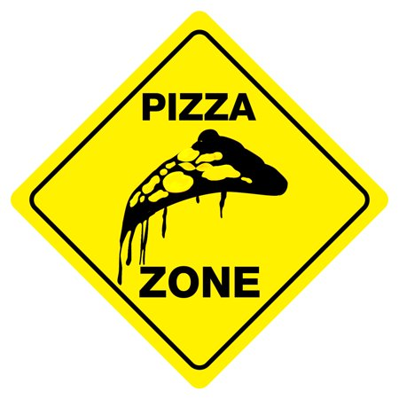 PIZZA ZONE Funny Novelty Xing Carnival Food Sign ()