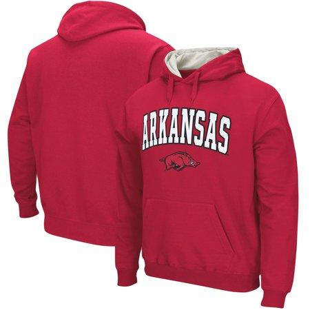 Arkansas Razorbacks Stadium Athletic Arch & Logo Tackle Twill Pullover Hoodie - Cardinal ()