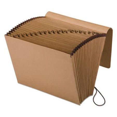 Essentials A-Z Expanding File, 21 Pockets, Kraft, Letter, Brown (PFXK17AOX)