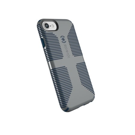 Speck CandyShell Grip Case for iPhone 8, 7, 6s, and 6, Grey and Navy Blue ()