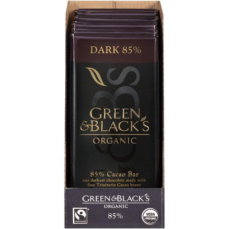 Organic Dark Chocolate, 85% Cacao, 3.5 Ounce (Pack of 10) Green & Black's ()