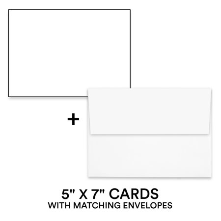 Hamilco White Cardstock Thick Paper - Blank Index Flash ...