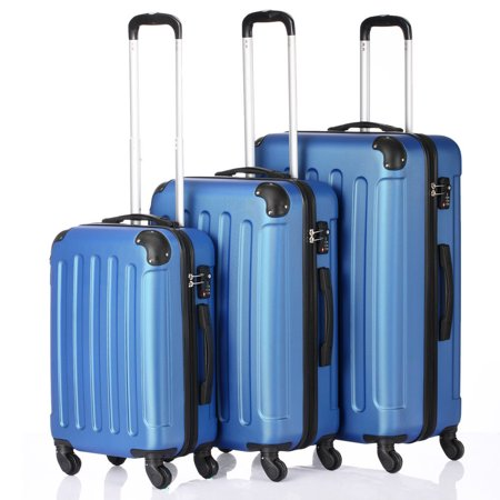3Pcs Luggage Set PC+ABS Trolley Spinner 20/24/28 Suitcase Hard Shell