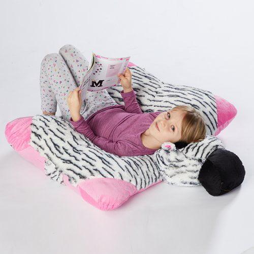 Pillow Pets Jumboz Zippity Zebra Plush Floor Pillow