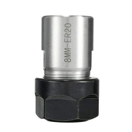 Motor shaft Collet Chuck ER20 A 8mm Extension Rod Holder toolholder CNC Milling - image 4 of 5