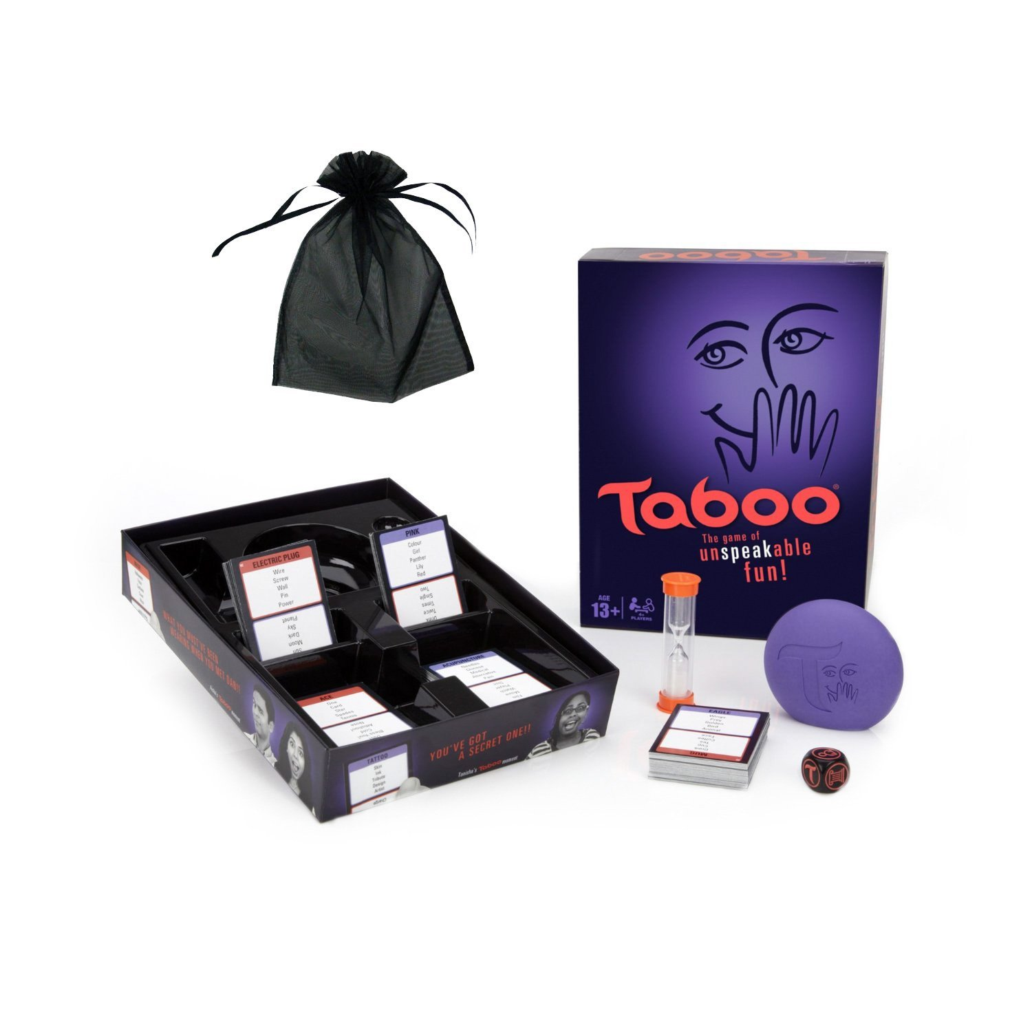 Taboo w free storage bag, Get players on your team to guess a specific word using verbal... by