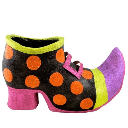 Halloween WITCH POLKA DOT SHOE Paper Mache Witch HC322611 (Halloween Shoes)