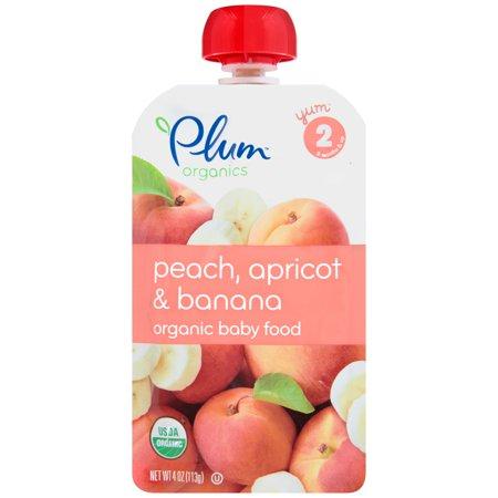 Plum Organics Stage 2 Peach, Banana & Apricot, 4oz