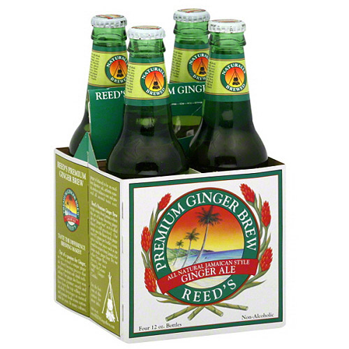 Reed's Premium Ginger Brew Ginger Ale, 48 fl oz, (Pack of 6)
