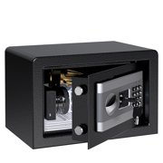Electronic Security Safe Box, Large Lock With Electronic Keypad, 2 Emergency Override Keys Design for Home Office Hotel Business Jewelry Gun Cash Medication (0.58 Cubic Feet)