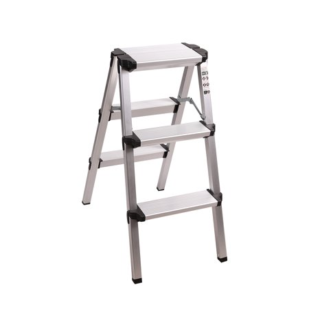 Swell Redcamp Aluminum Folding Step Ladder 3 Step Sturdy Heavy Gmtry Best Dining Table And Chair Ideas Images Gmtryco