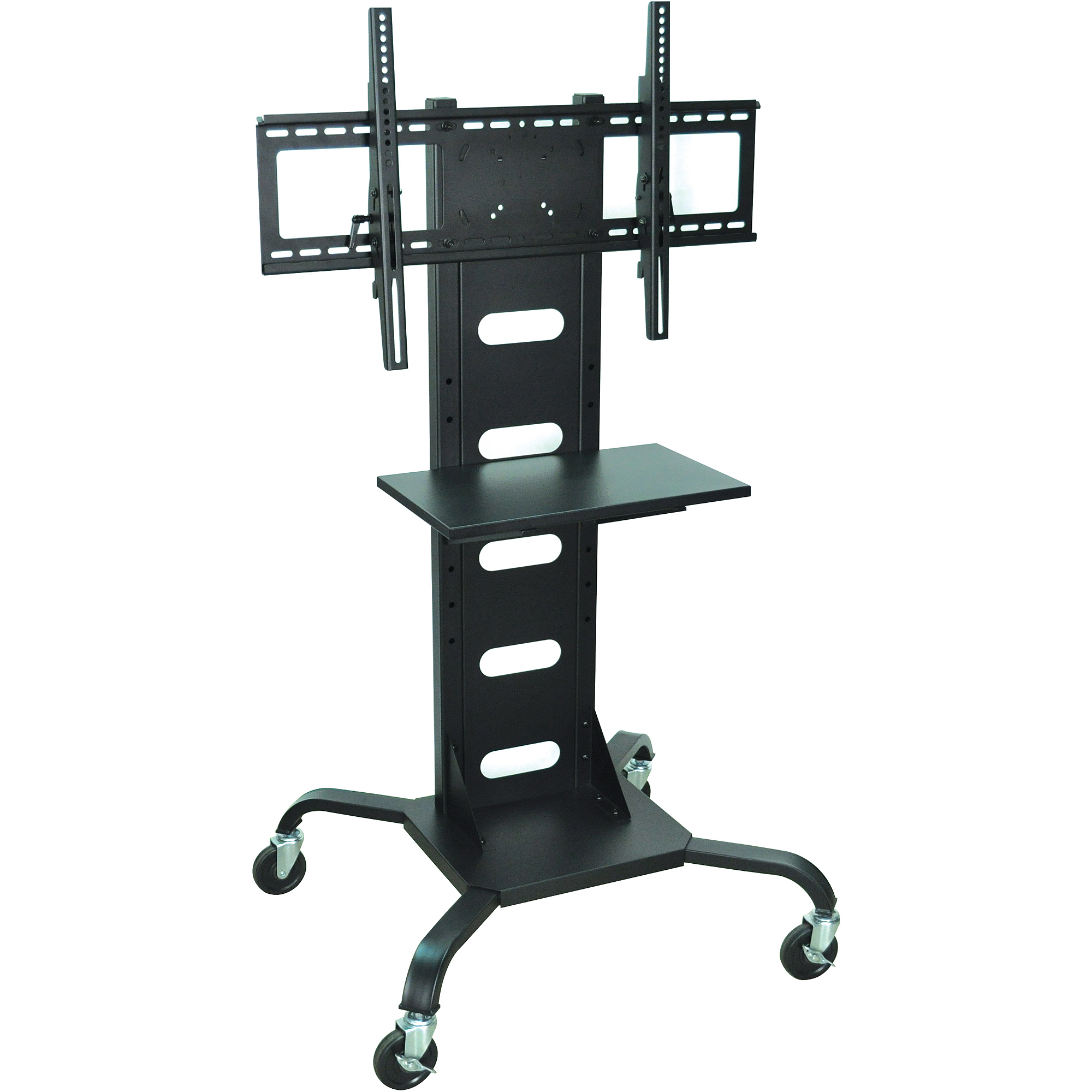 H. Wilson Mobile Flat Panel TV Stand and Mount, Black