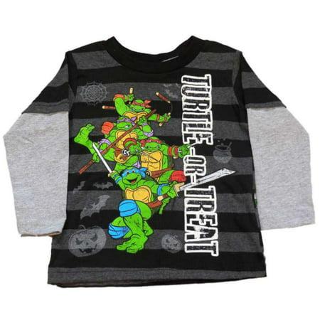 Teenage Mutant Ninja Turtles Infant Toddler Boys Black Turtle or Treat Shirt (Teenage Mutant Ninja Turtles Toddler Clothes)