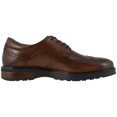 Florsheim Astor Wing Tip Oxford Cognac Smooth/Brown Sole