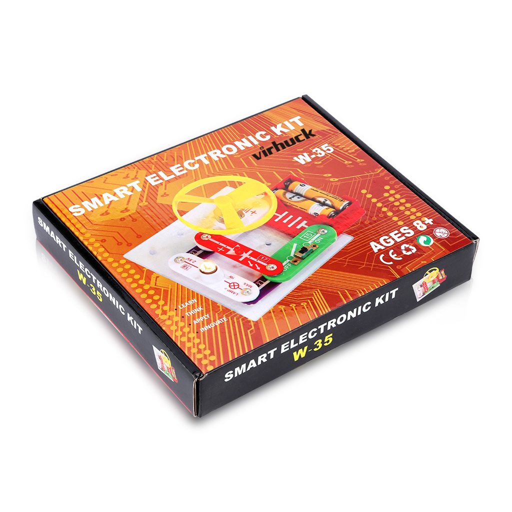 Virhuck W-35 Funny Electronics Discovery Kit Science Educational Toy Smart DIY Block Kit