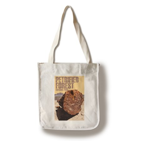 Petrified Forest National Park  Arizona   Petrified Wood Close Up   Lantern Press Artwork  100  Cotton Tote Bag   Reusable